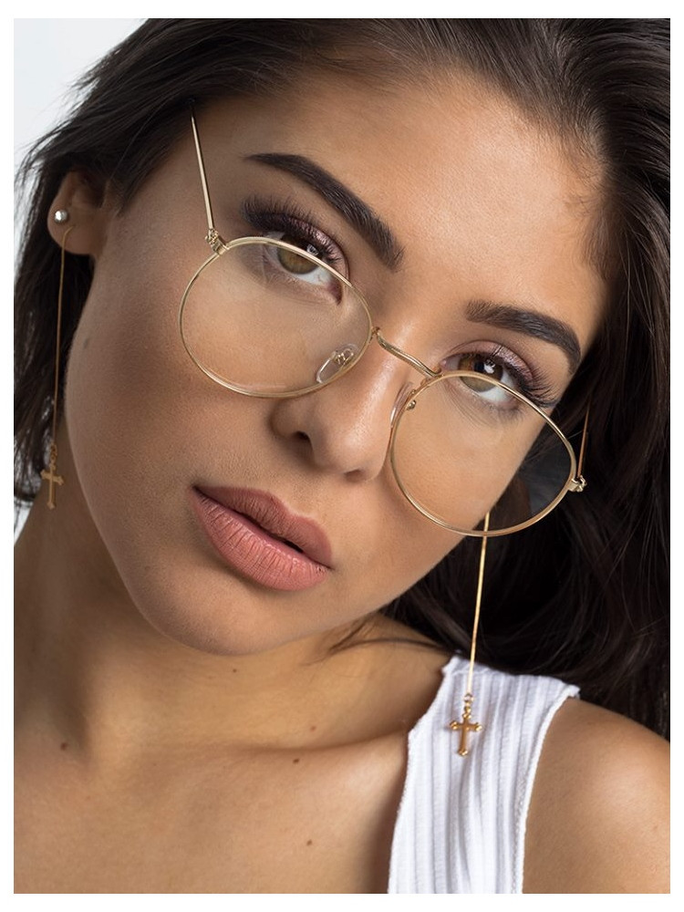 NASIA GOLD CLEAR LENS