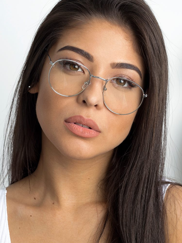 NASIA SILVER CLEAR LENS