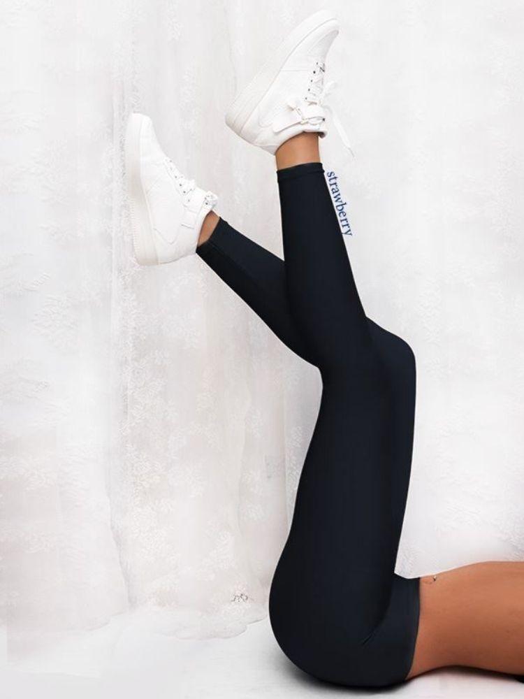 SUPER LYCRA BLACK LEGGINGS